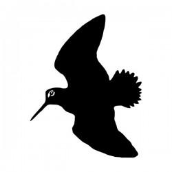 pegatina de becada o arcea volando de perfil