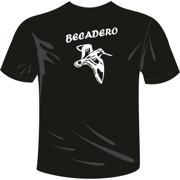 Camiseta de caza arcea color negro