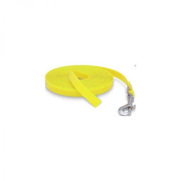 Trailla de poliuretano amarilla para adiestramiento