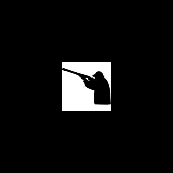 Pegatina de tirador de plato con escopeta