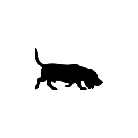 pegatina de basset hound