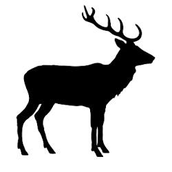 pegatina de venado o ciervo lateral