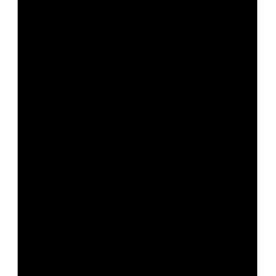 Pegatina de macho montés de perfil