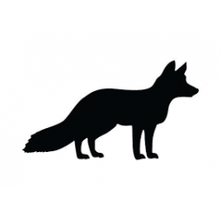 Pegatinas de caza con forma de zorro observando