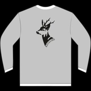 Sudadera de corzo color gris claro