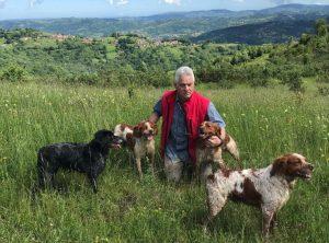 Javier fernández de bretones la fontecha con sus perros de caza
