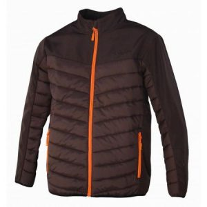 Chaqueta softshell de caza marrón impermeable