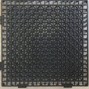 baldosa o loseta de plastico negro